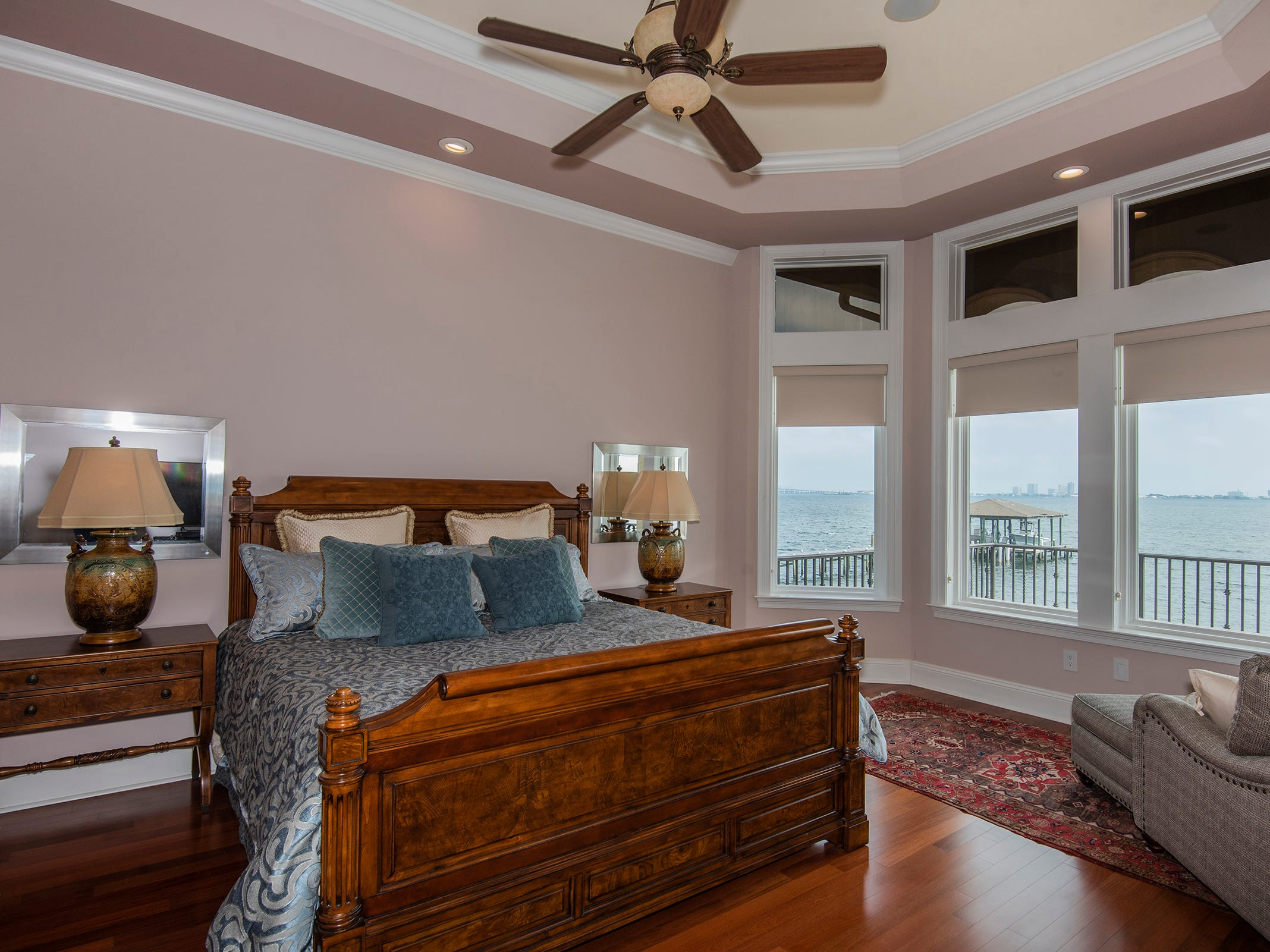 5 Colley CoveThe master suite overlooks the water.