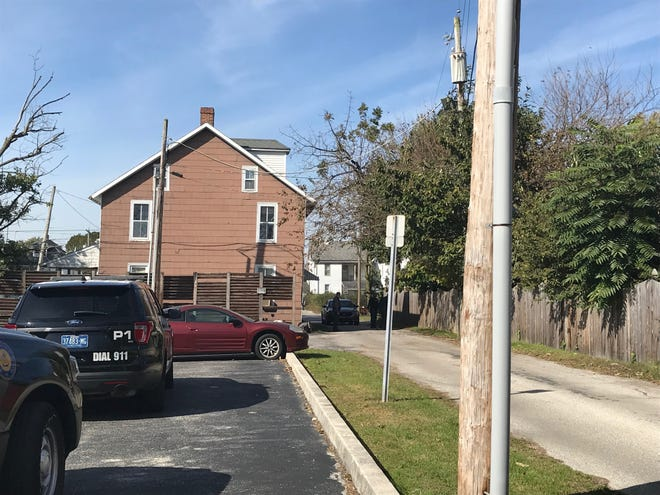 Hanover Borough Police investigate a domestic altercation in the first block of Stoner Avenue on Oct. 25, 2018.