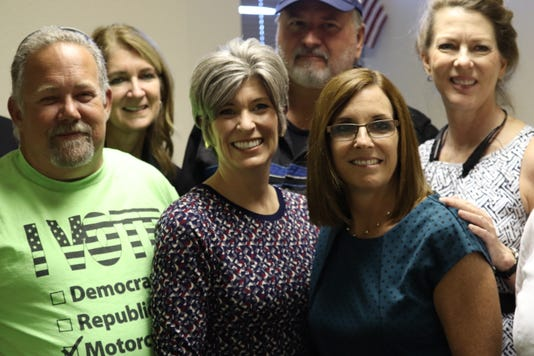 Martha McSally and Joni Ernst with supporters