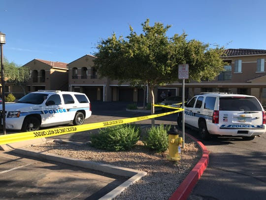 Chandler police were at the scene of an apartment complex where a 4-week-old baby was found dead after his mother reported the infant was abducted. She is considered a suspect in the death, police said.