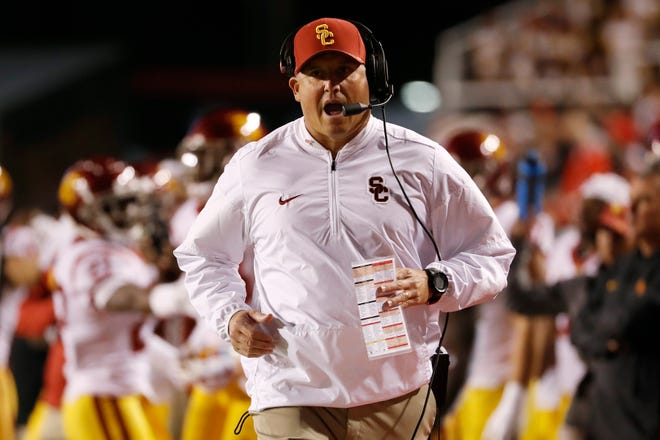 USC Trojans head coach Clay Helton looks to get his team back on track against ASU.