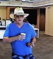 The unnamed suspect captured by bank surveillance.