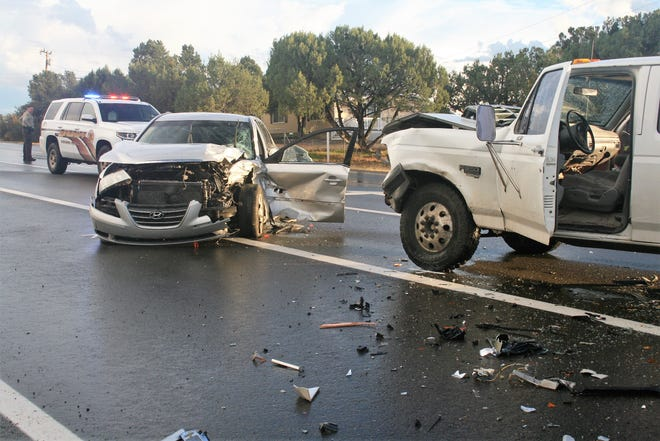 Six people, including a grandmother and her three grandchildren, were injured in a Prescott crash.