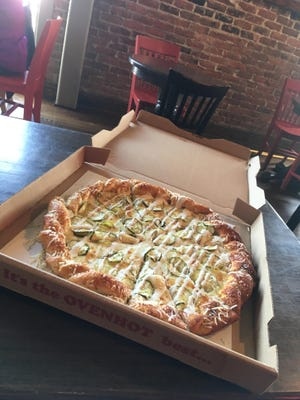 Sweetwater Gourmet Deli and Bar's pickle pizza.