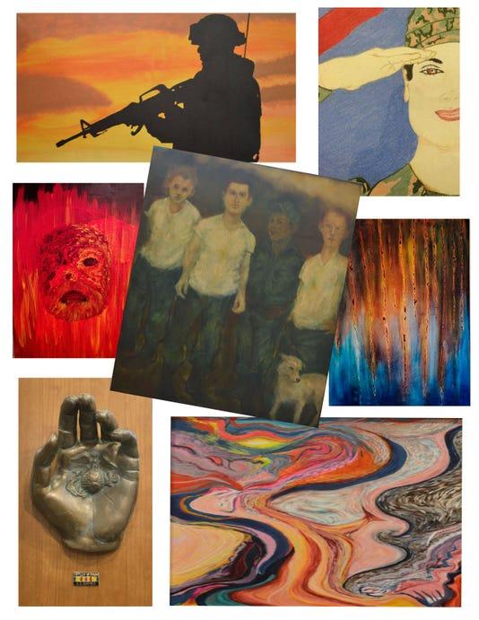 Veterans Art Collage