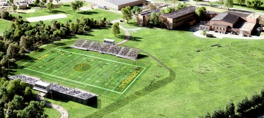 A rendering of the turf field planned for York Catholic High School as a part of the school's $8 million capital campaign.