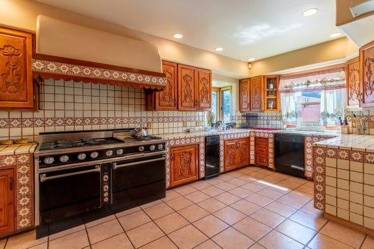 Artisan tiles from the Baja Peninsula of Mexico abound in the kitchen of Bertha Miranda's hacienda estate in South Suburban Reno.