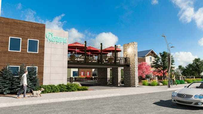 Rendered images from Jacobs Entertainment of its Renova Flats project in downtown Reno's West Fourth Street corridor.