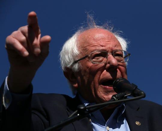 Senator Bernie Sanders campaigns for Nevada Democrats on the University of Nevada, Reno campus on Oct. 25, 2018.