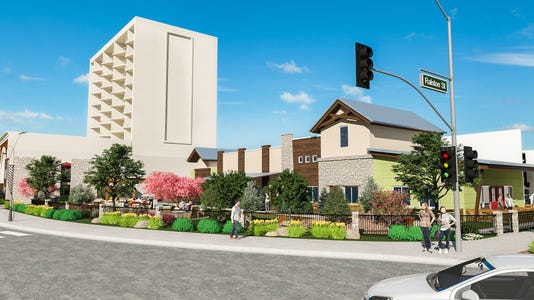 Renderings of Jacobs Entertainment's Renova Flats project. The former Crest Inn property on downtown Reno's West Fourth Street corridor is expected to be completed in spring 2019.