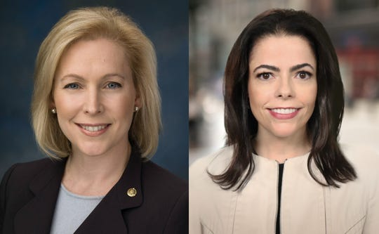 Sen. Kirsten Gillibrand, D-N.Y., left, and Republican challenger Chele Chiavacci Farley.