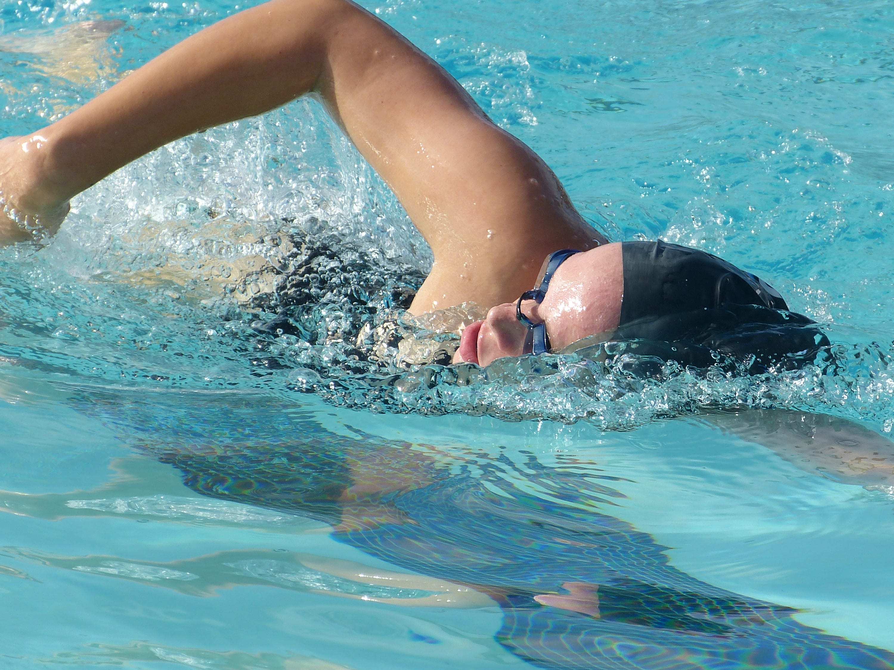Cassidy Wolsey of U-Prep swims in the 500-yard freestyle Wednesday at the NSCIF trials for Division 2 schools at West Valley High School on Oct. 24, 2018.