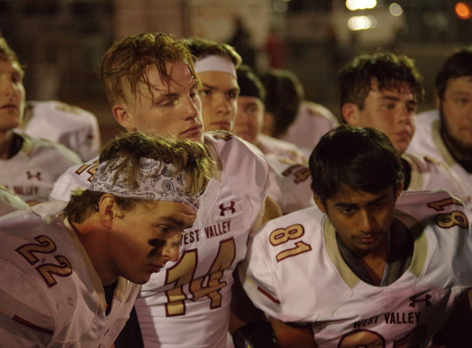 The West Valley football team paid tribute to Tyson Wacker on Friday, Oct. 19, before their game against Corning. Wacker, a junior defensive end, was injured in a vehicle crash on Oct. 18  died as a result of his injuries the following Monday.