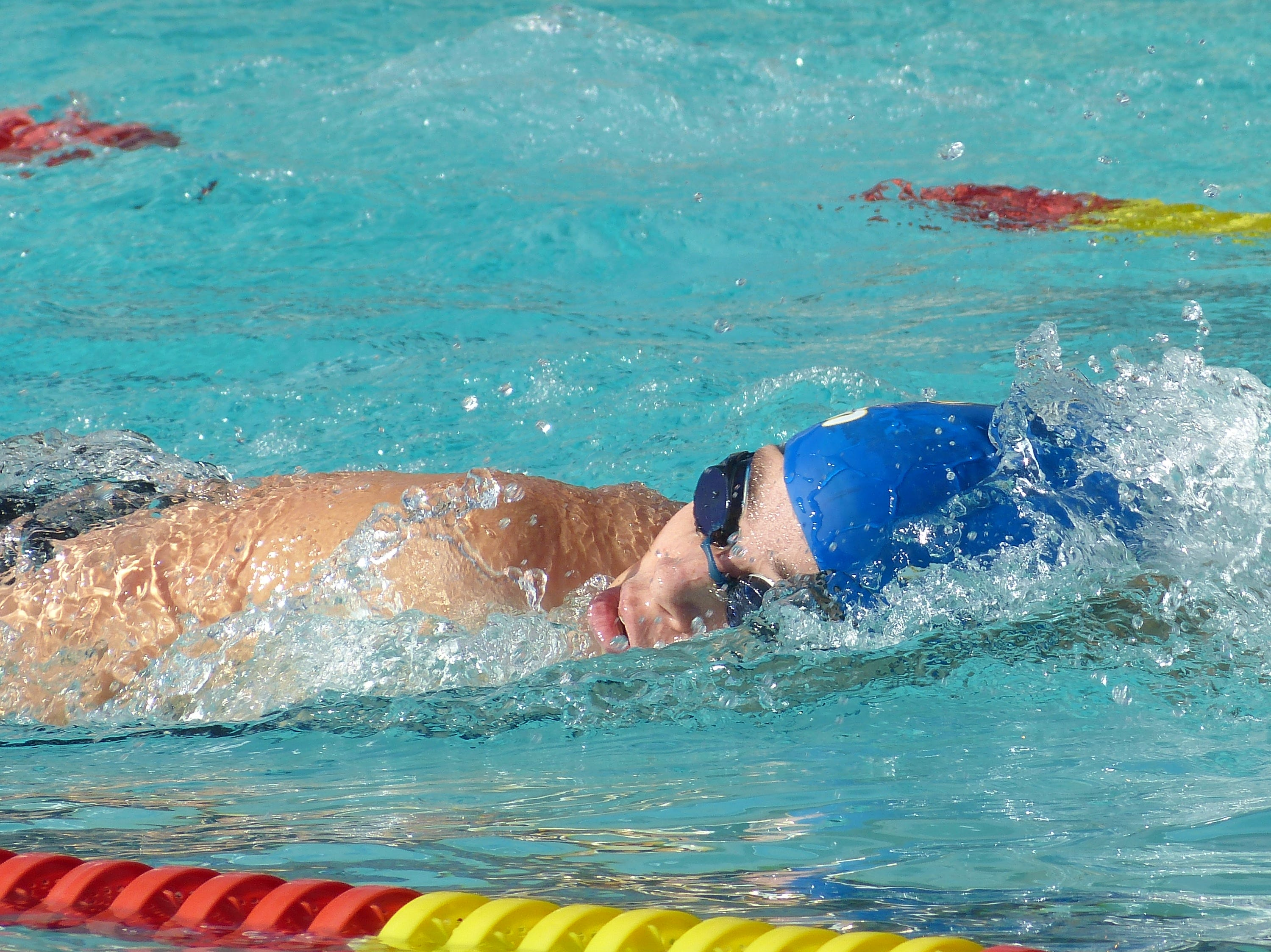 Madison Gama of American Christian swims in the 500-yard freestyle Wednesday at the NSCIF trials for Division 2 schools at West Valley High School on Oct. 24, 2018.