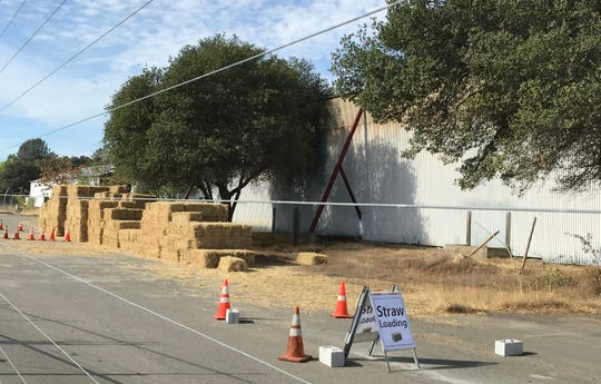Saturday and Sunday the city of Redding is giving away erosion control materials, including straw bales and straw wattles.