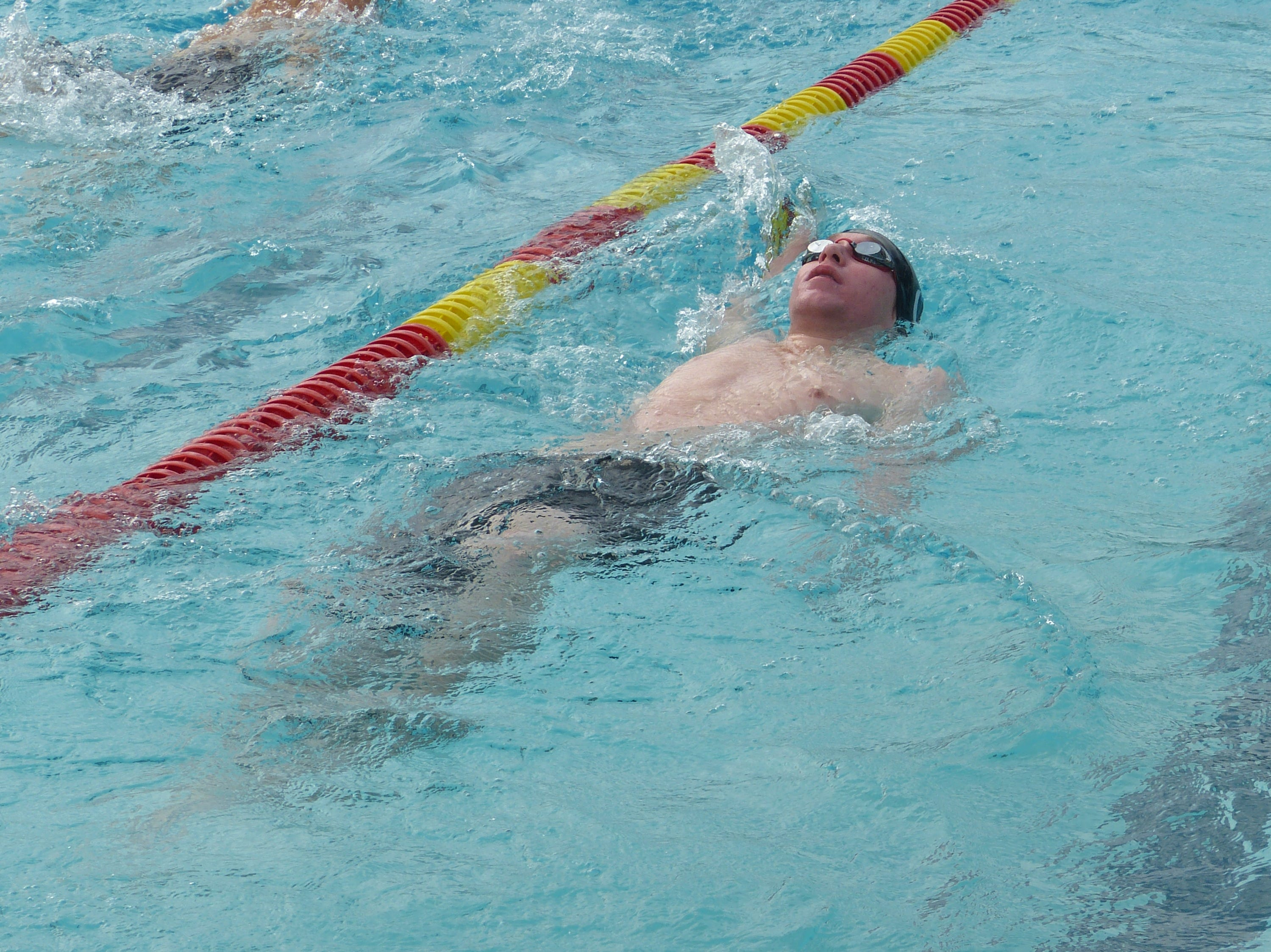 Eric Exley of University Prep swims in the 200-yard individual medley Wednesday at the NSCIF trials for Division 2 schools at West Valley High School on Oct. 24, 2018.