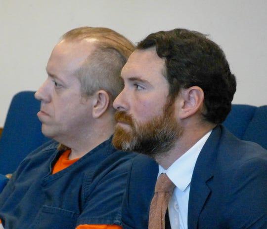 Curtis Culver, left, sits with defense attorney Matthew Izzi Thursday in Shasta County Superior Court.