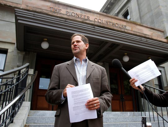 Knute Buehler, speaks during a news conference in Portland, Sept. 19, 2012.