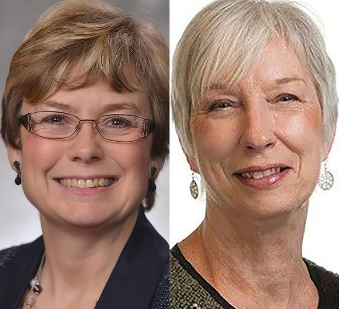 From left, incumbent Sherrie Sprenger and challenger Renee Windsor White.
