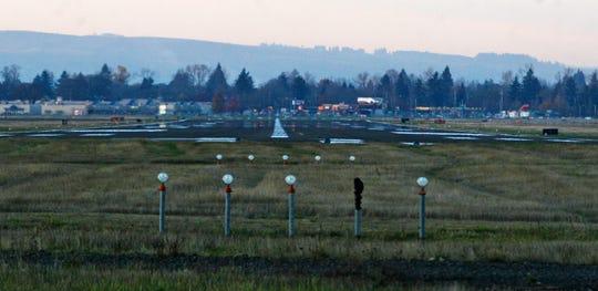 Runway at Salem Municipal Airport.