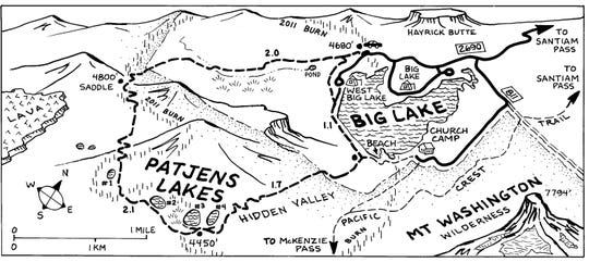Patjens Lakes Map
