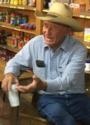 Roddy Maddox laments Cherokee's loss to Panther Creek in the 1992 state quarterfinals while talking football recently at Miss Sue's Sweet Tea in downtown Cherokee.