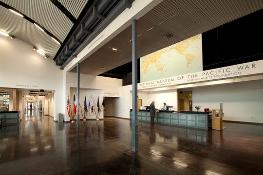 The lobby of the National Museum of the Pacific in Fredericksburg.