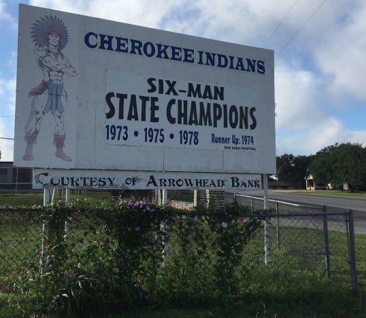 Cherokeefootballsign