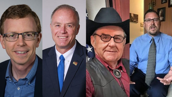 "Dustin ""Dusty"" Johnson, Tim Bjorkman, Ron Wieczorek and George Hendrickson are running for the U.S. House of Representatives."