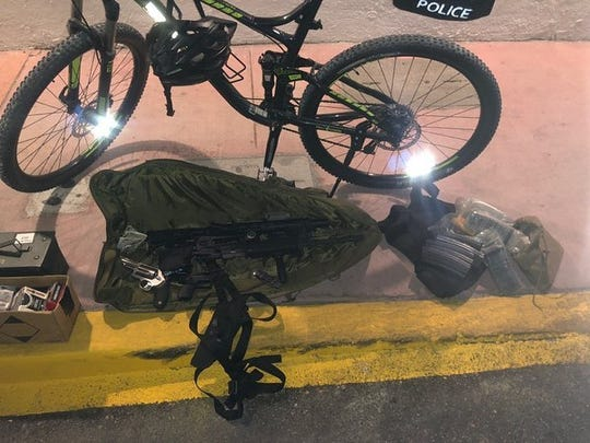 Miami Beach Police seized weapons, a bullet-resistant vest and a pocket knife from a Sioux Falls man Thursday. The Sioux Falls man was charged with DUI and carrying a concealed weapon and open carry.