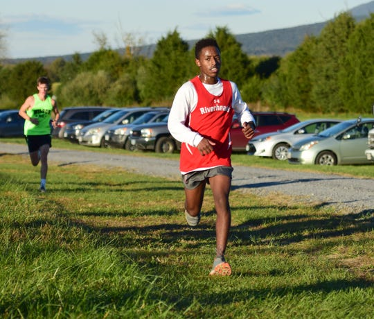 Ab Knight finished second in the boys race to help Riverheads take the team title at the VHSL Class 1, Region B Cross Country Championships on Tuesday, Oct. 30, 2018, at New Market Battlefield Park in New Market, Va.