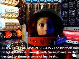 """""""Kidtasia: A Fantasy in 5 Beats"""" dir. Robert Jersak"""