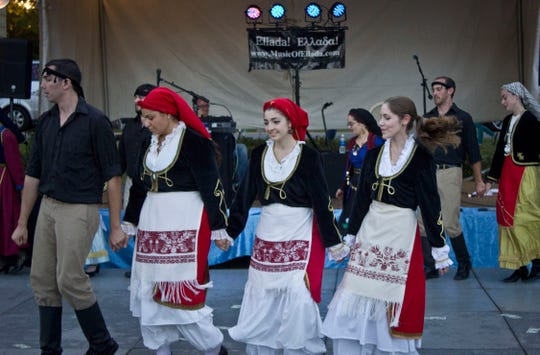 Thousands attend the Greek Food Festival to enjoy a taste of Greek culture and food.