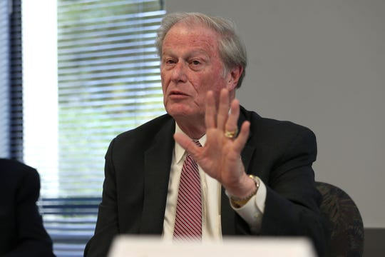 John Thrasher, President of Florida State University, speaks at a lecture as part of Joe Cresse Ethics in Government Lecture Series, in the DeVoe Moore Conference Room on Thursday, Oct. 25, 2018.