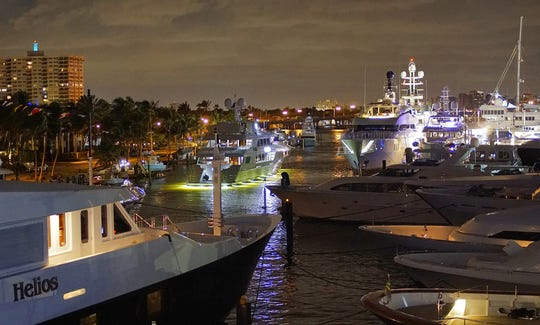 Night life takes on a whole new meaning at the Fort Lauderdale International Boat Show, open Oct. 31-Nov. 4 this year.