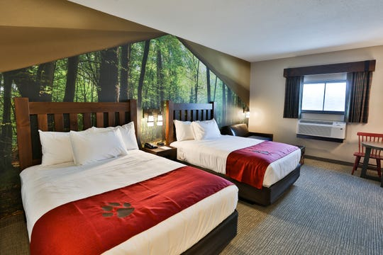 A family suite at the Great Wolf Lodge in Georgia.