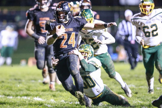 Kade Ehrike and Stratford are coming off a shutout win over Northland Pines in a WIAA Division 5 playoff game last Friday. The second-seeded Tigers host Colby on Friday.