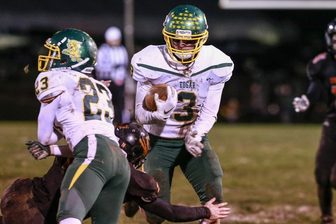Kyle Brewster and the Edgar football team opened the postseason with a 50-0 win over Greenwood last week in a WIAA Division 7 matchup. The 10-0 Wildcats host Clear Lake on Friday.