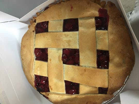 Cherry pie from the Orchards of Concklin in Pomona.