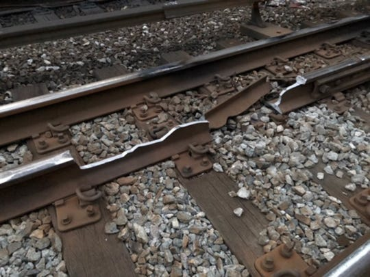 A broken rail in Crestwood delayed trains on Metro-North Railroad's Harlem Line on Oct. 25, 2018.