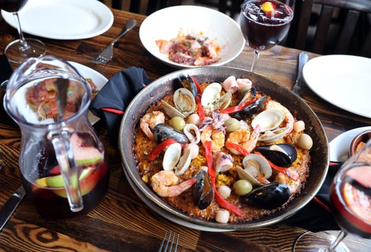 A seafood paella at Basque Tapas Bar in Piermont Oct. 23, 2018.