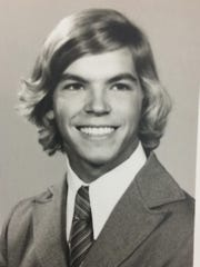 Lee Dunham's father in high school.