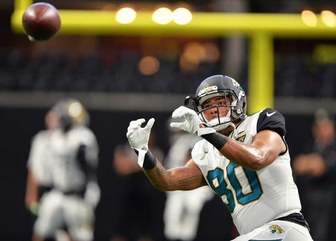 Former Newark High School star David Grinnage has three receptions for 24 yards this season as a tight end for the Jacksonville Jaguars.