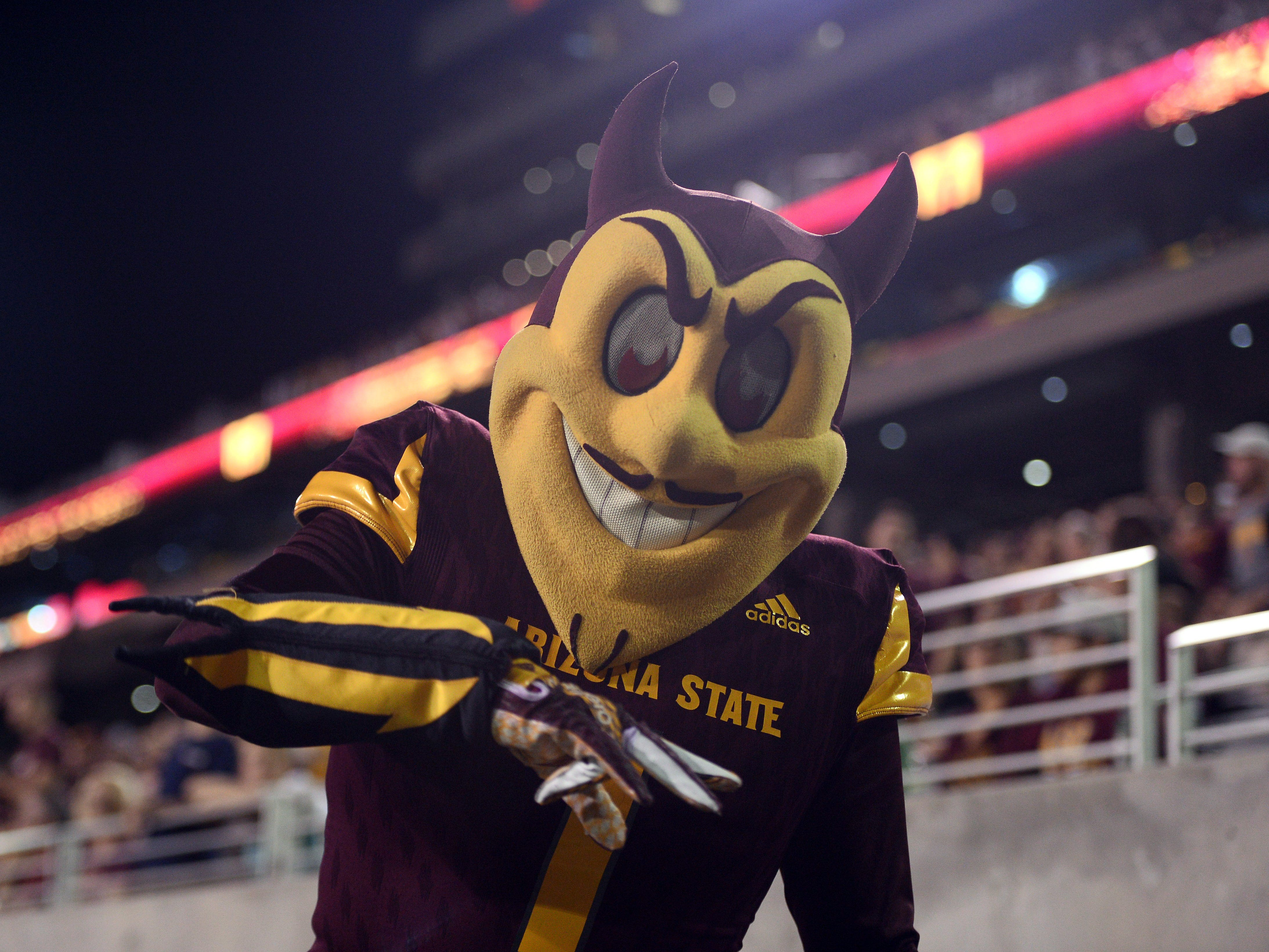If you really want to be scared, there's nothing worse than the devil, like Arizona State mascot Sparky.