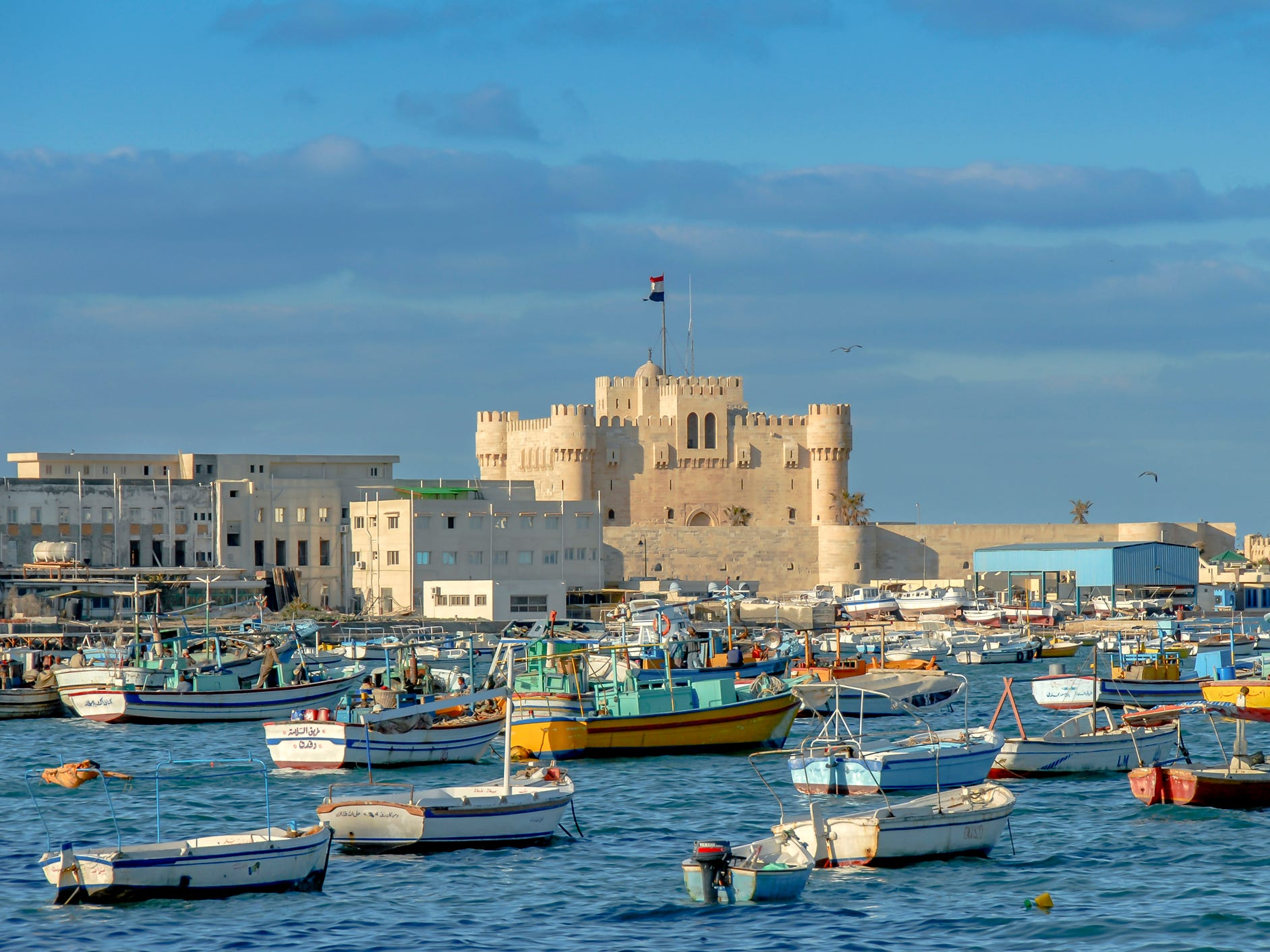 Although the Ottomans did seize Alexandria shortly after the citadel's construction, the fortress still stands, and it makes a grand impression on the skyline of Alexandria with its turreted towers overlooking the sea.