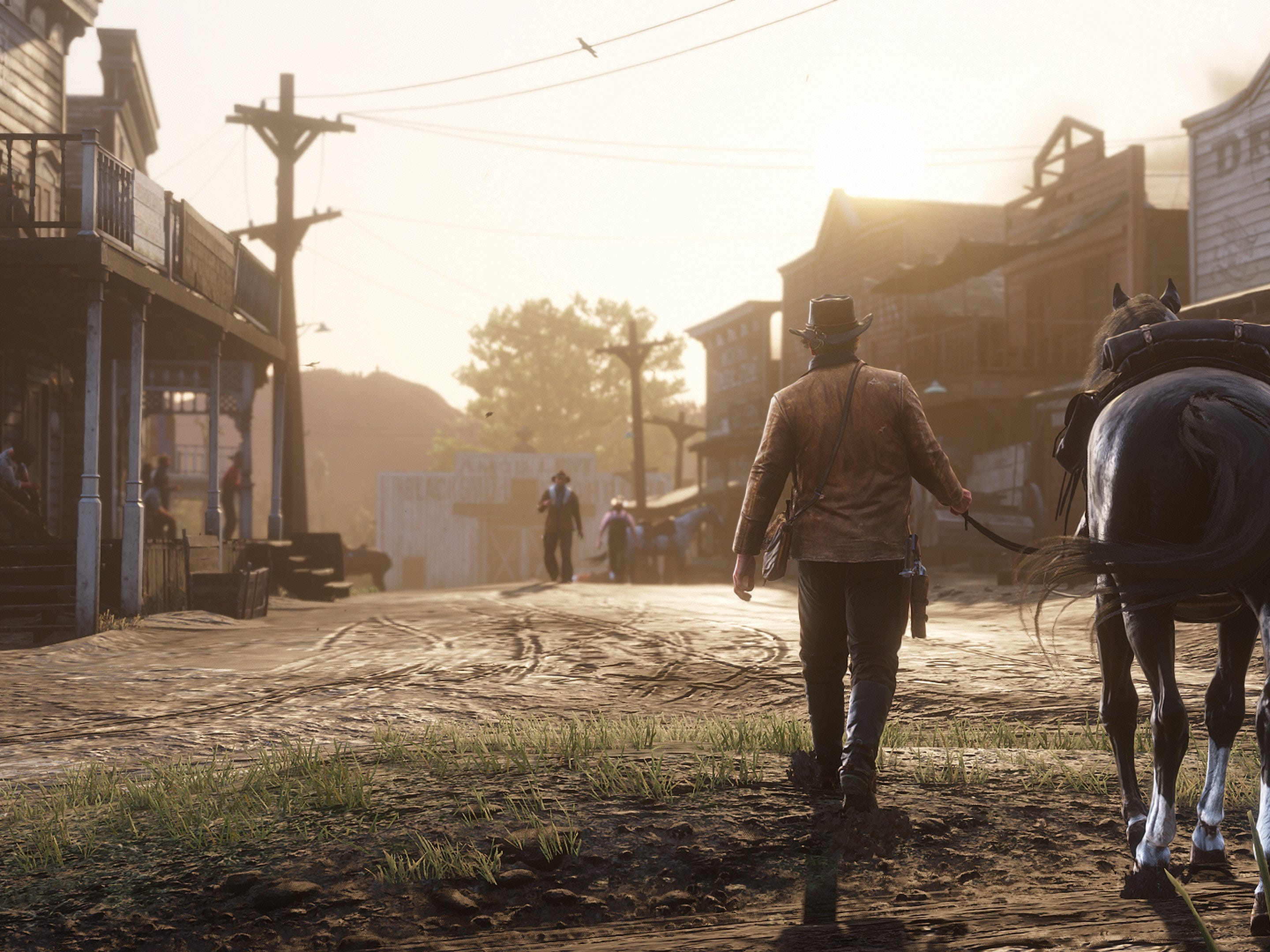 Visit burgeoning turn-of-the-century towns as you explore 'Red Dead Redemption 2.' While there, you can buy supplies, upgrade your weapons, play poker and frequent the saloon.