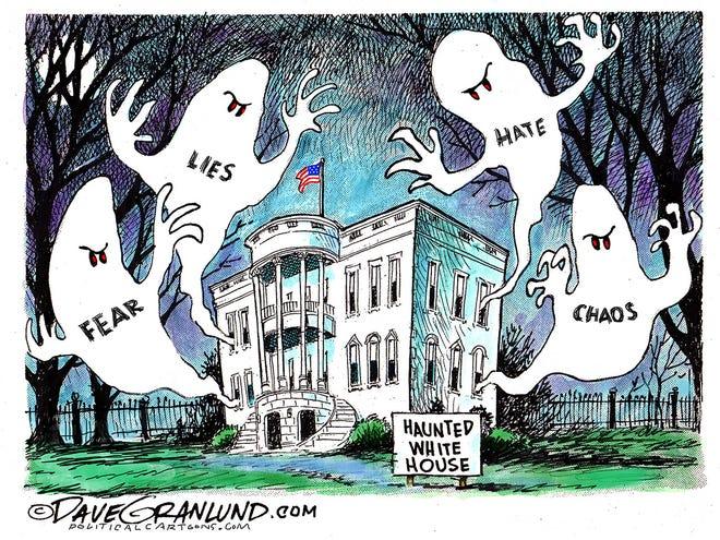 Trump haunted White House