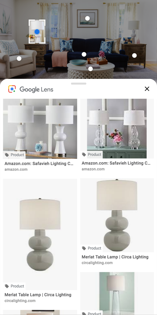 The new Google Lens shows information about where to buy products shown in image search via mobile browsers