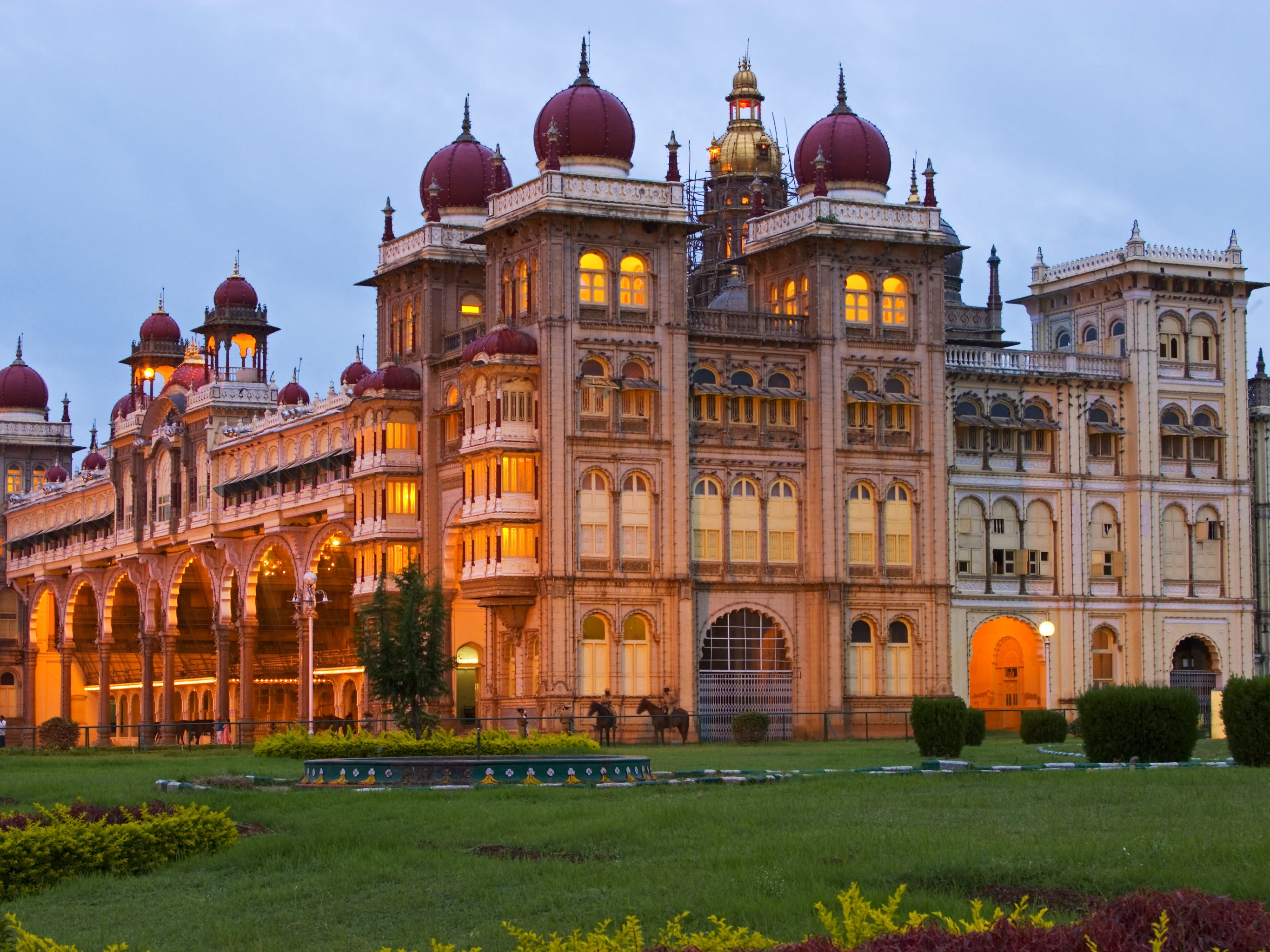 """Amba Vilas Palace in Mysore, India: The city of Mysore is often described as the """"city of palaces,"""" but to visit the grandest of them all, head to Amba Vilas Palace in the Old Fort."""