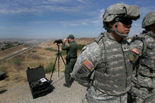 Ap Border National Guard California A File Usa Ca